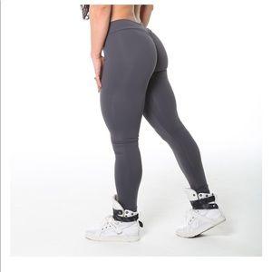 v cut metal leggings